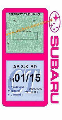 Porte double étui assurance voiture Subaru