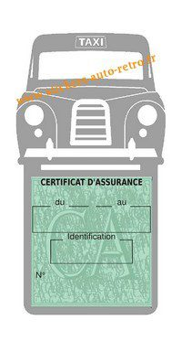 Porte assurance voiture taxi BlackCab Anglais de Londres Stickers rétro adhésif vinyle grise.