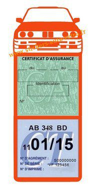 Autocollant Stickers porte méga vignette assurance voiture M3 e30 BMW orange rétro-mobile.