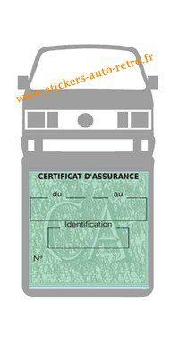 Etui vignette assurance T4 Volkswagen grise le support pochette certificat voiture.