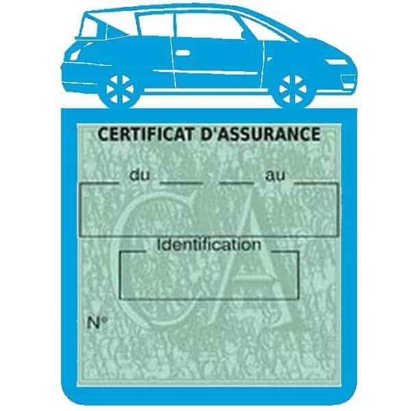 Vignette assurance voiture AVANTIME Renault bleu clair