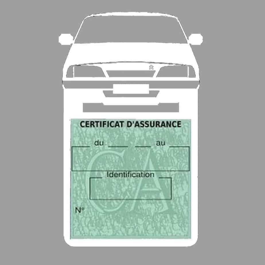 AX CITROEN vignette assurance voiture blanc
