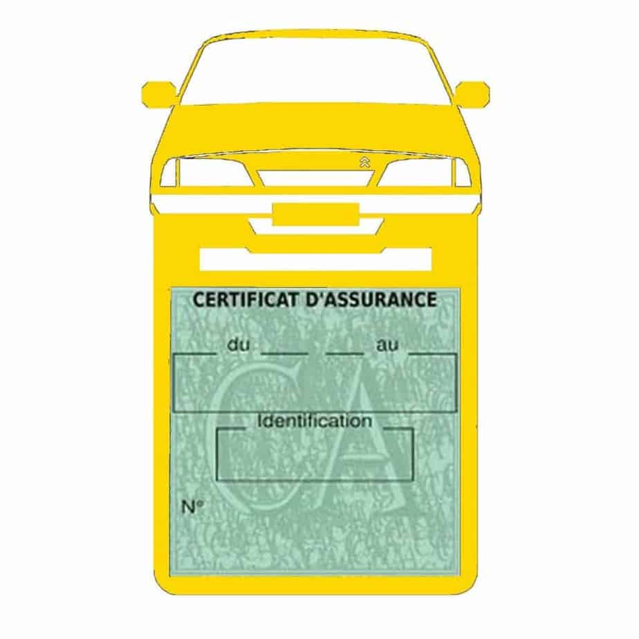 AX CITROEN vignette assurance voiture jaune