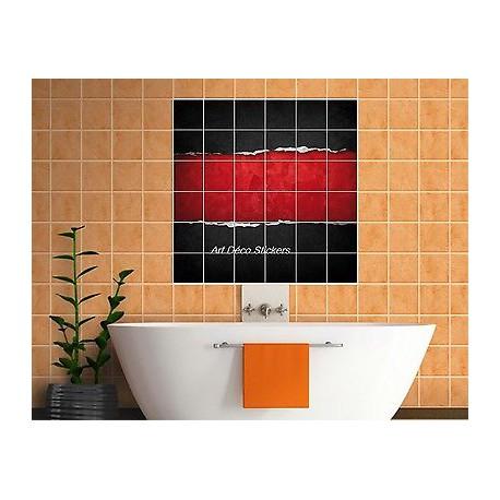 sticker carrelage mural faience deco cuisine ou salle de bain design ref 823 stickers muraux deco