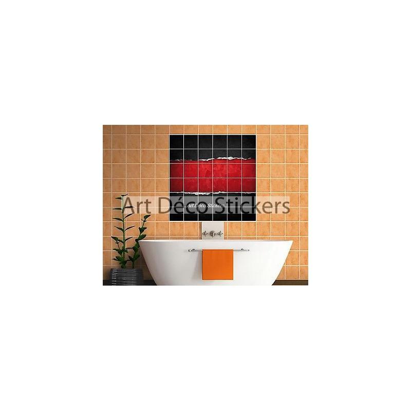 sticker carrelage mural deco design 823