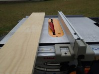 Tablesaw set to 45 degrees