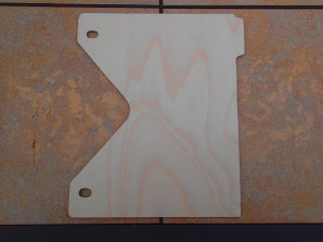 After all cuts are made and holes are drilled