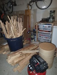 A small, and I mean VERY SMALL, portion of scrap wood pile