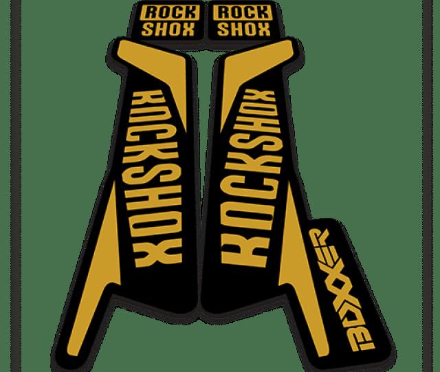 Rockshox Boxxer Fork Stickers In Gold