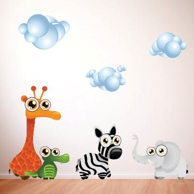 adesivo murale bambino animaletti