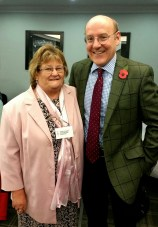Wendy our president with Mr Snead