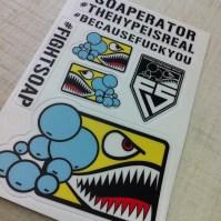 Fight Soap Sticker Sheet