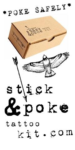 Stick and poke tattoos diy tattoos homemade tattoos for How to stick and poke tattoo
