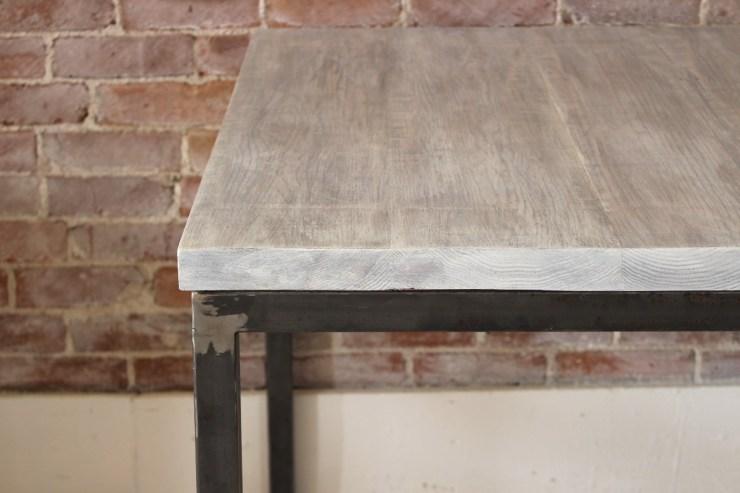 sticks and bricks steel tube dining table