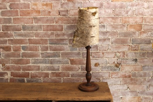 sticks and bricks vintage base birch lamp