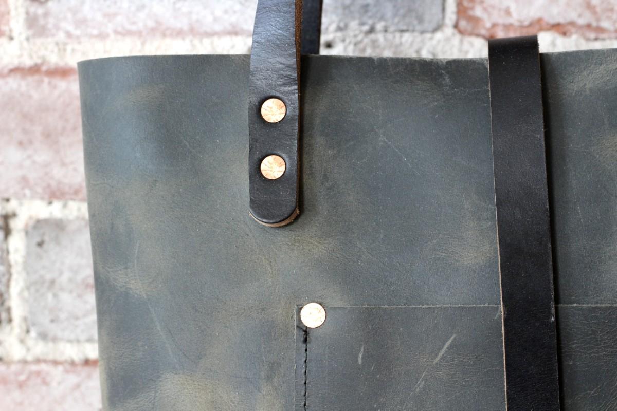 grey charlie tote by zoe johnson handmade