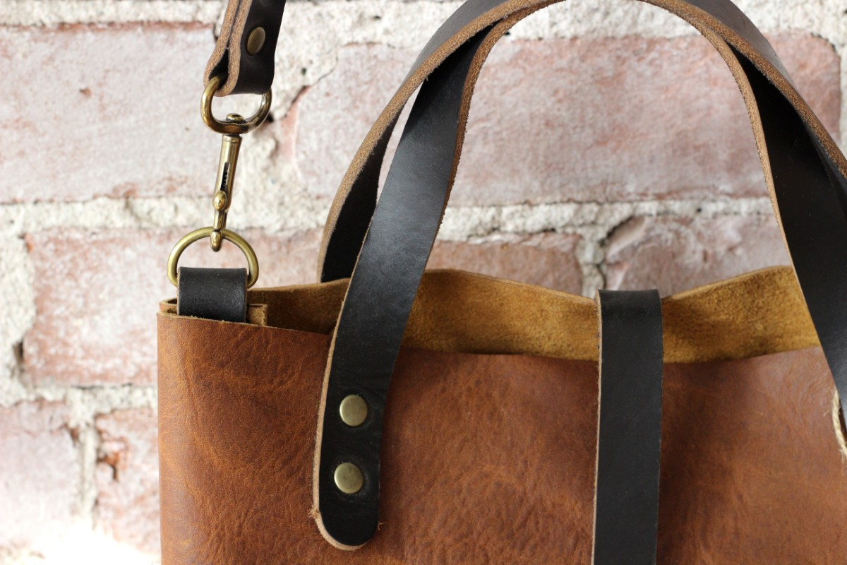 golden rye cross body bucket bag leather tote by zoe johnson handmade