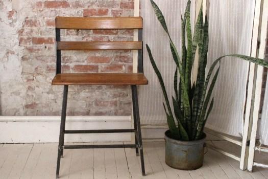 sticks and bricks school bench stool