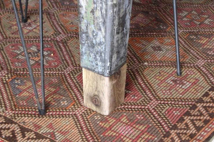 sticks and bricks industrial farm table