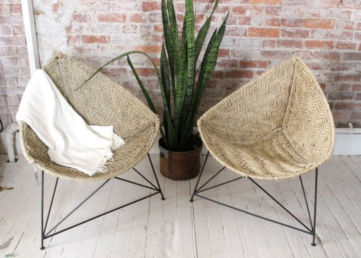 triangle jute chairs