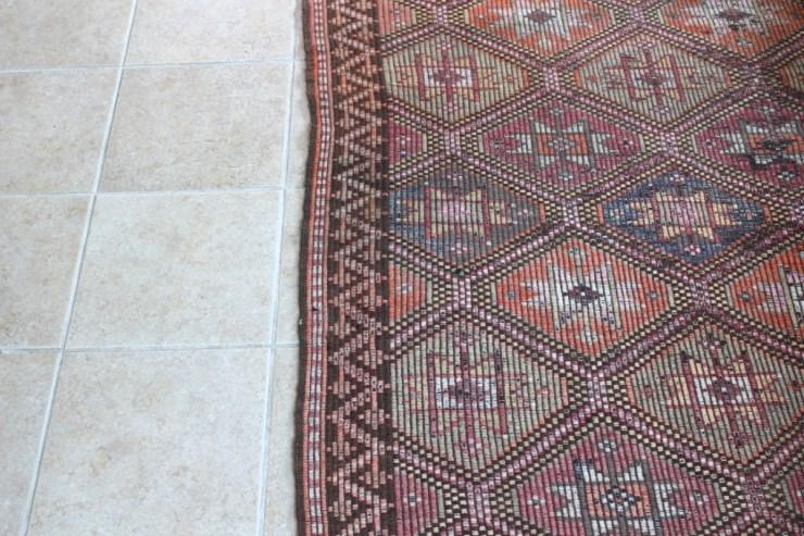 sticks and bricks vintage geometric area rug image