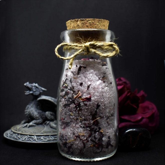 "Handcrafted ""Focus Salt"" created by Sticks & Stones Magic"