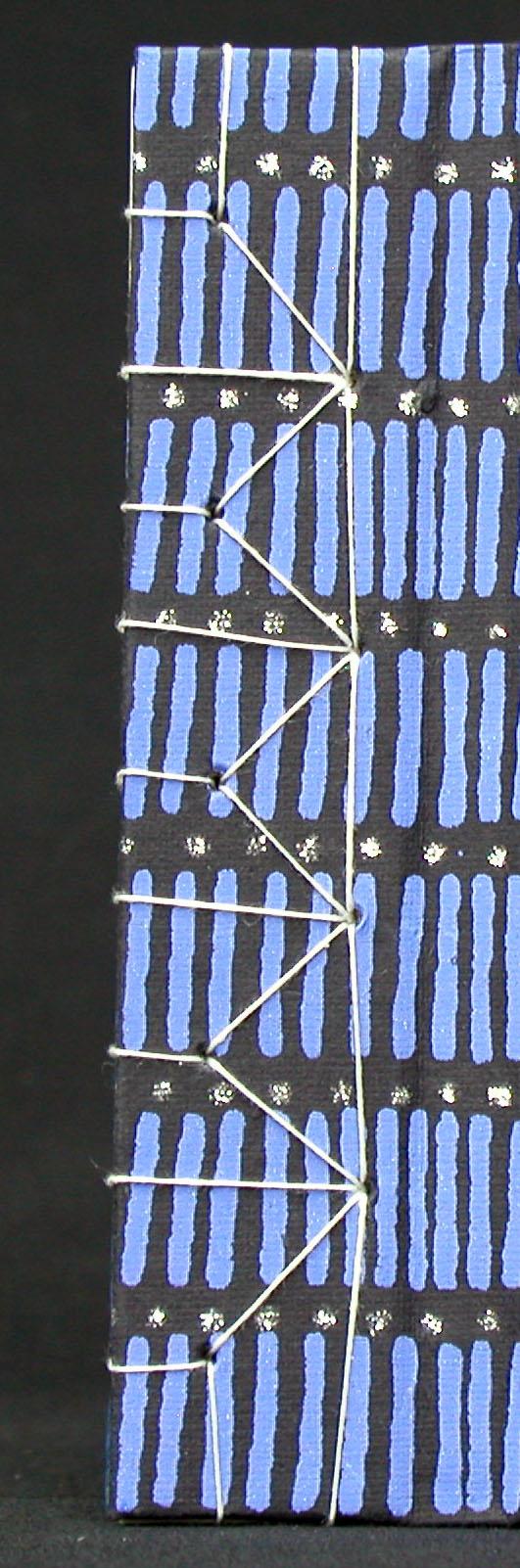 hemp stitch closeup