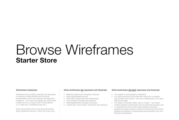 Starter Store: Browse UX
