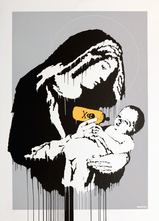 Banksy, stick together gallery, banksy for sale, toxic mary
