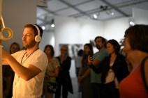 Max Zorn live tape art Miami Beach scope art fair