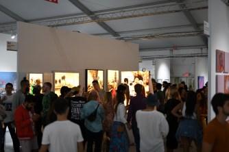 Max Zorn live tape art Miami Beach scope art fair Stick Together Gallery