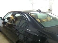 Black BMW Before Auto Window Tinting