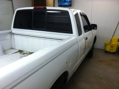 White Nissan Frontier After Mobile Window Tinting