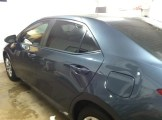 Blue Grey Corolla After Mobile Auto Window Tinting