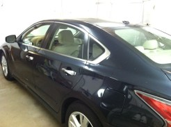 Altima Blue Before Auto Window Tinting