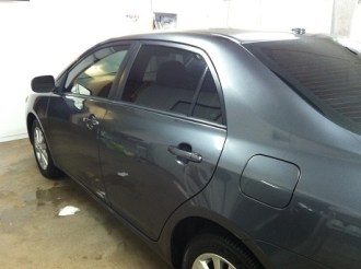 Blue Corolla After Auto Window Tinting
