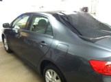 Blue Corolla Before Mobile Window Tinting