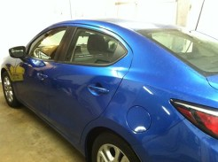 Blue Scion Before Mobile Window Tinting