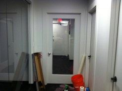 RS Before Commercial Door tinting
