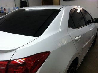 White Corolla after tint