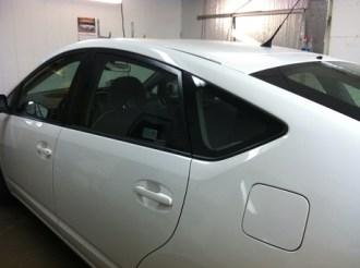 Prius White Before Auto Tinting