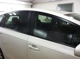 White new Prius Before Tinting