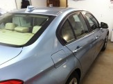 Blue Beemer Before Auto Winbow Tinting