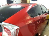 Fire Red Prius After Specialty Tinting
