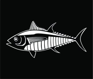 Tuna Profile Decal