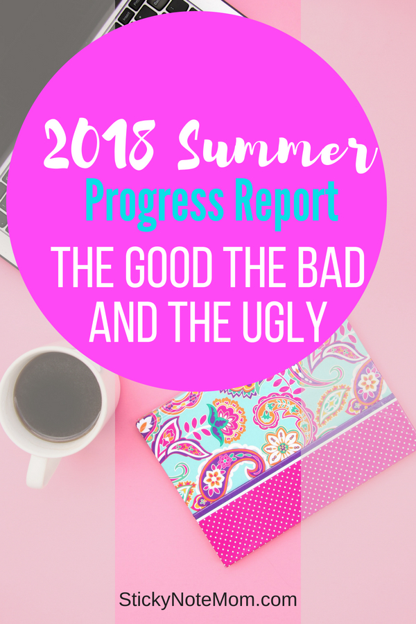 This Summer Progress Report explains how my blog got to rock bottom. Despite being at rock bottom, there is a plan that you need to see!