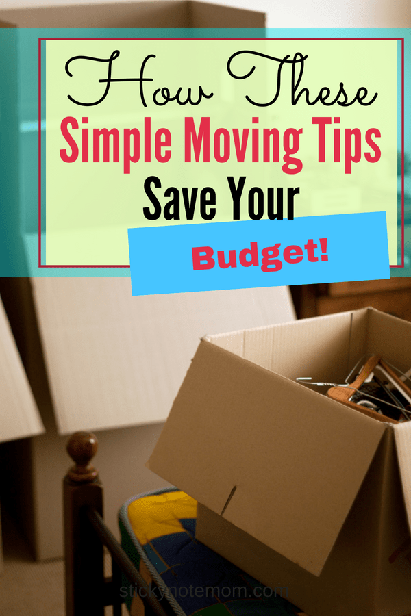 Simple Moving Tips to save you money and time.
