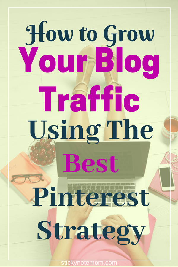 Blog traffic is hard to grow. This strategy will grow your blog traffic with the best Pinterest Strategy.