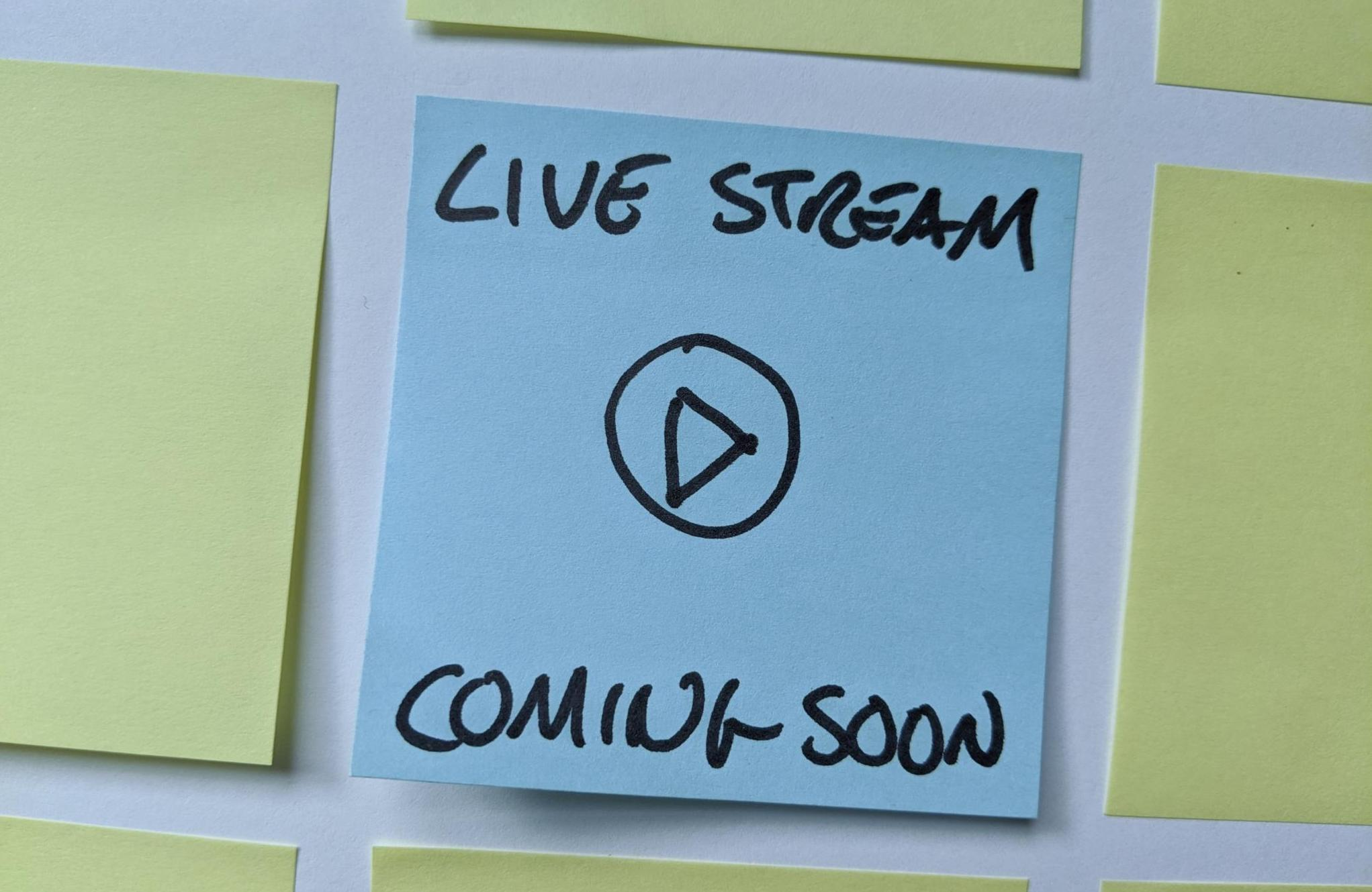 Live Stream Coming Soon