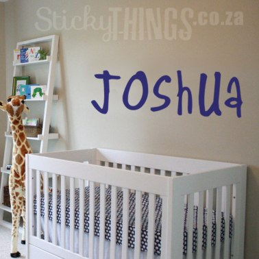 Large Personalised Name Wall Sticker